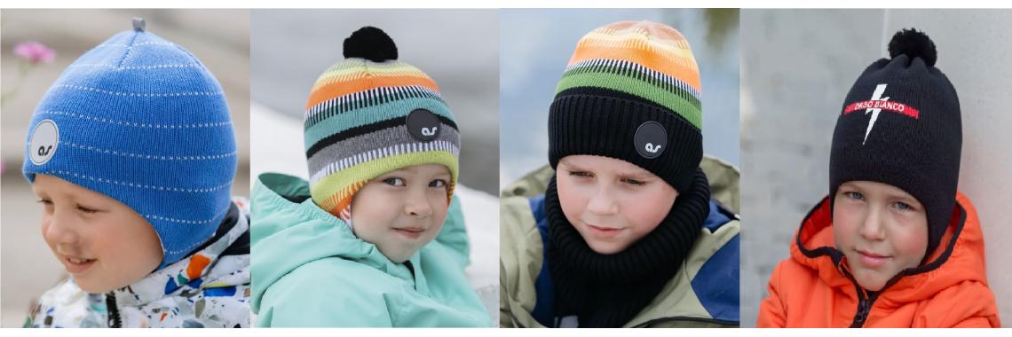 шапки мальчики весна